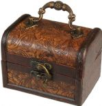 Ancient Wisdom Retro Antique Colonial Style Box Floral Embossed